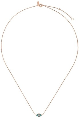 Ef Collection 14kt gold diamond evil eye necklace
