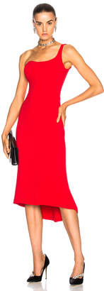 Oscar de la Renta for FWRD One Shoulder Cocktail Dress