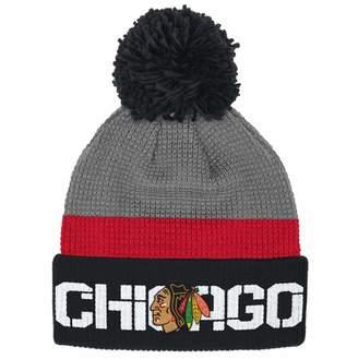 Reebok Chicago Blackhawks Cuffed Pom Knit Toque