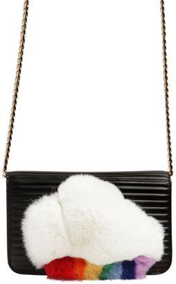 Les Petits Joueurs Ginny Cloud Rabbit Fur Shoulder Bag