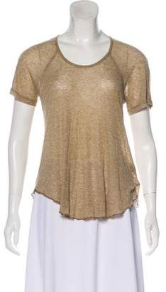 Etoile Isabel Marant Short Sleeve Scoop Neck Top