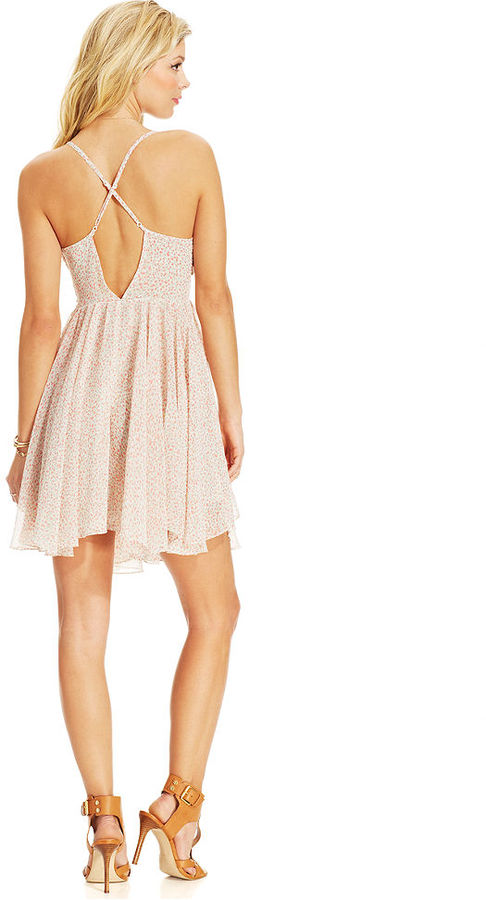 GUESS Floral-Print Ruffle Dress