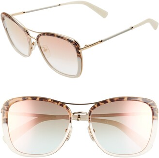 Longchamp Heritage 56mm Square Sunglasses