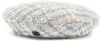 Maison Michel New Billy Tweed Beret - Womens - Blue