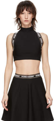 Opening Ceremony Black Torch Sports Bra Turtleneck