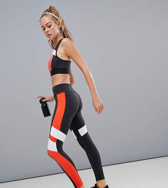 Reebok Training Exclusive To ASOS Color Block Leggings In Black And Red
