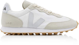 Veja Suede-Trimmed Mesh Sneakers