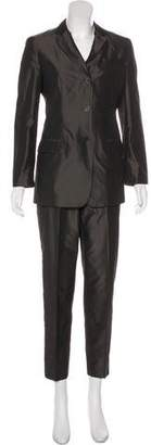 Calvin Klein Collection Silk Notched-Lapel Pantsuit