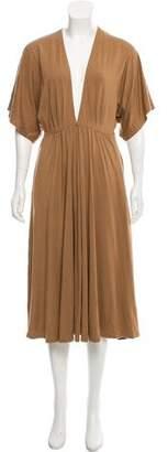 Reformation Plunge Midi Dress