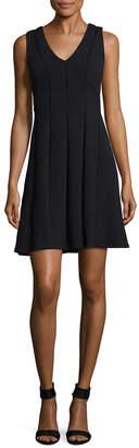 Rebecca Taylor Dia Solid V-Neck Dress