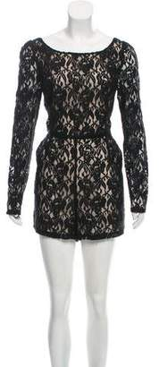 ALICE by Temperley Lace Long Sleeve Romper