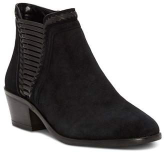 Vince Camuto Women's Pippsy Almond Toe Suede Low-Heel Booties