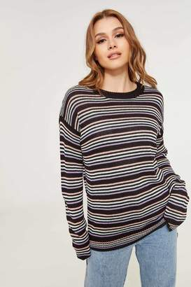 Ardene Striped Oversized Sweater