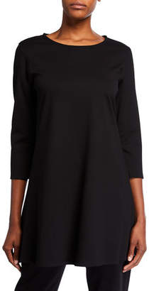 Caroline Rose Plus Size Ponte Luxe Flare 3/4-Sleeve Tunic