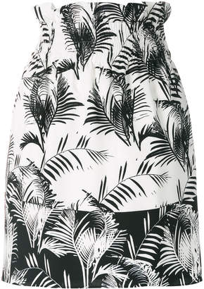 Sonia Rykiel palm print mini skirt