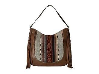 M&F Western Saddle Blanket Fringe Large Shoulder Bag