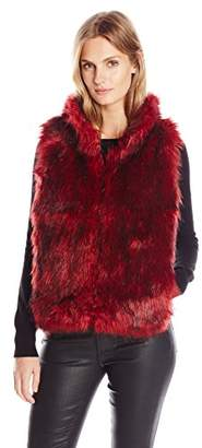 Buffalo David Bitton Women's Alaina Faux Fur Puffer Vest $20.84 thestylecure.com
