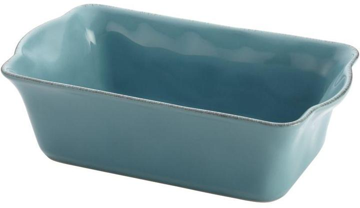 Rachael Ray Cucina Stoneware 9 in. x 5 in. Loaf Pan in Agave Blue