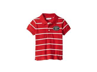 Lacoste Kids Short Sleeve Striped Heritage Badge Pique Polo (Infant/Toddler/Little Kids/Big Kids)