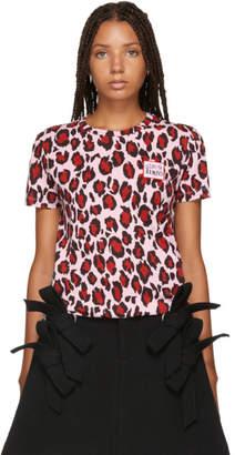 Kenzo Pink Leopard Straight T-Shirt