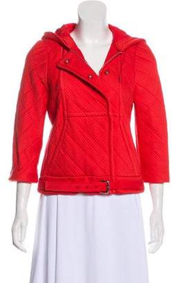 Fendi Quilted Belt-Accented Jacket