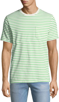 Frame Striped Pocket T-Shirt