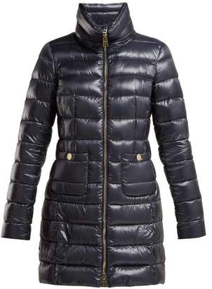 Herno Quilted Nylon Down Filled Jacket - Womens - Dark Blue