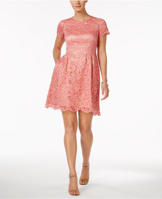 Vince Camuto Lace Fit & Flare Dress $148 thestylecure.com