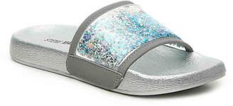 Steve Madden Sparkle Toddler & Youth Slide Sandal - Girl's