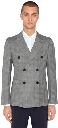 Prada Slim Wool Prince Of Wales Jacket