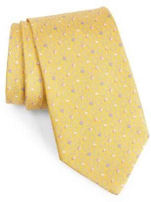 Men's Salvatore Ferragamo Gancini & Flag Print Silk Tie $190 thestylecure.com