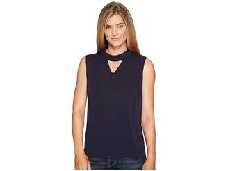 Tribal Sleeveless V-Neck Blouse w/ Back Zipper Women's Sleeveless