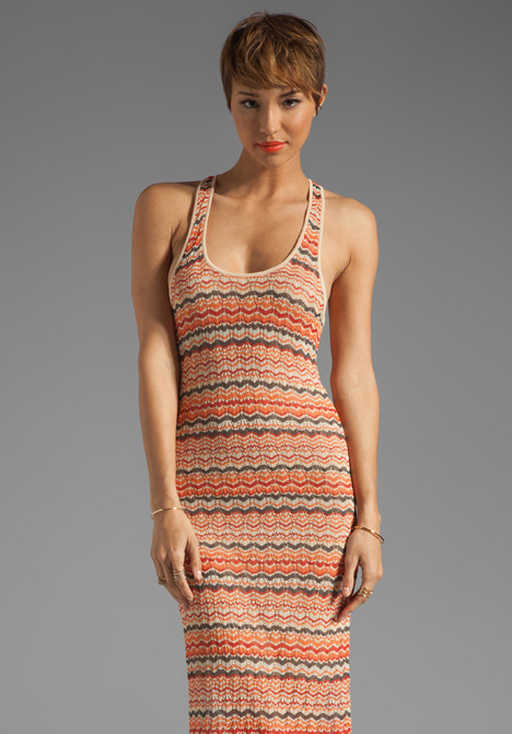 Haute Hippie Chevron Stripe Maxi Dress
