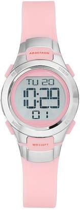 JCPenney Armitron Womens Pink Chronograph Digital Sport Watch 45/7012PNK