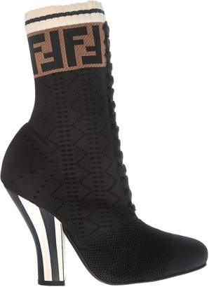 Fendi Lace-up Perforated Boots