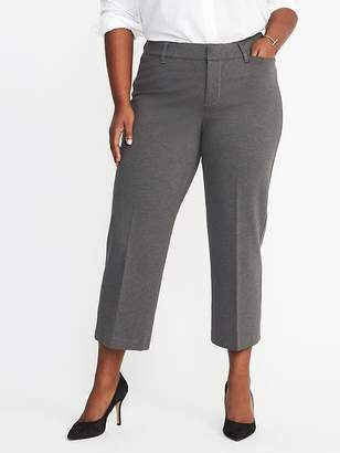 Old Navy Smooth & Contour Plus-Size Ponte-Knit Pixie Ankle Trousers