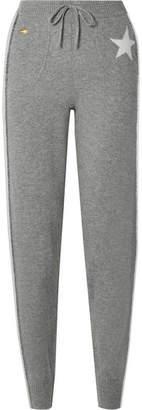 Bella Freud Billie Striped Cashmere-blend Track Pants - Gray