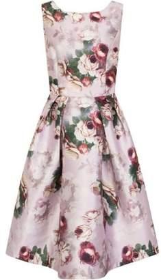 Dorothy Perkins Womens *Chi Chi London Pink Floral Print Midi Skater Dress