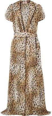 Charlotte Olympia Adriana Degreas - + Leopard-print Silk-chiffon Robe - Leopard print
