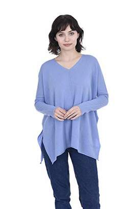 Cashmeren V-Neck Tunic Sweater Cashmere Wool Long Sleeve Oversized Pullover for Women (