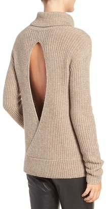 Olivia Palermo + Chelsea28 Open Back Wool & Cashmere Turtleneck Sweater $129 thestylecure.com