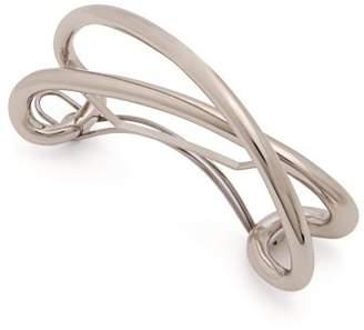 Charlotte Chesnais Initial Silver Plated Hair Clip - Womens - Silver