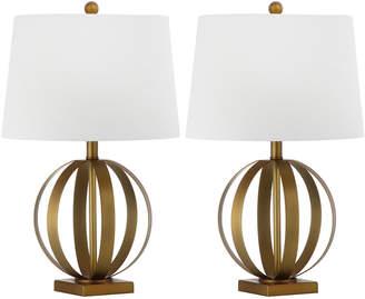 Safavieh Set Of 2 Euginia 24.5In Sphere Table Lamps