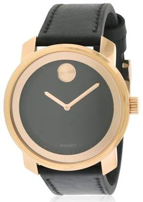 Movado Bold Leather Mens Watch 3600376