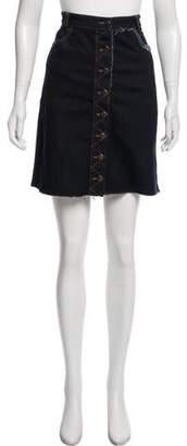 Preen Line Denim Knee-Length Skirt