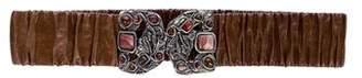 Miu Miu Ruched Waist Belt