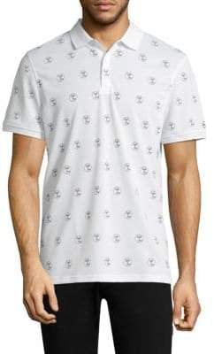 AG Jeans Green Label Short-Sleeve Neat-Print Polo