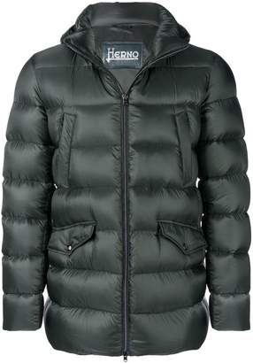 Herno zipped hooded jacket
