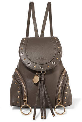See by Chloe Olga Small Textured-leather Backpack