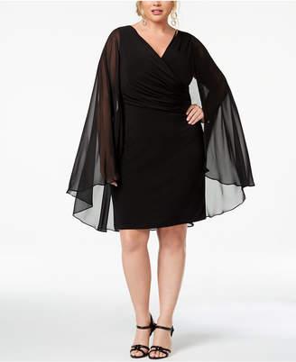 Calvin Klein Plus Size Surplice Cape Dress
